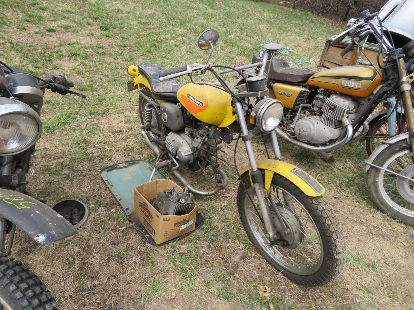 1971 Harley Davidson-AMF H2 Sprint GS350 Motorcycle for Project - Image 2