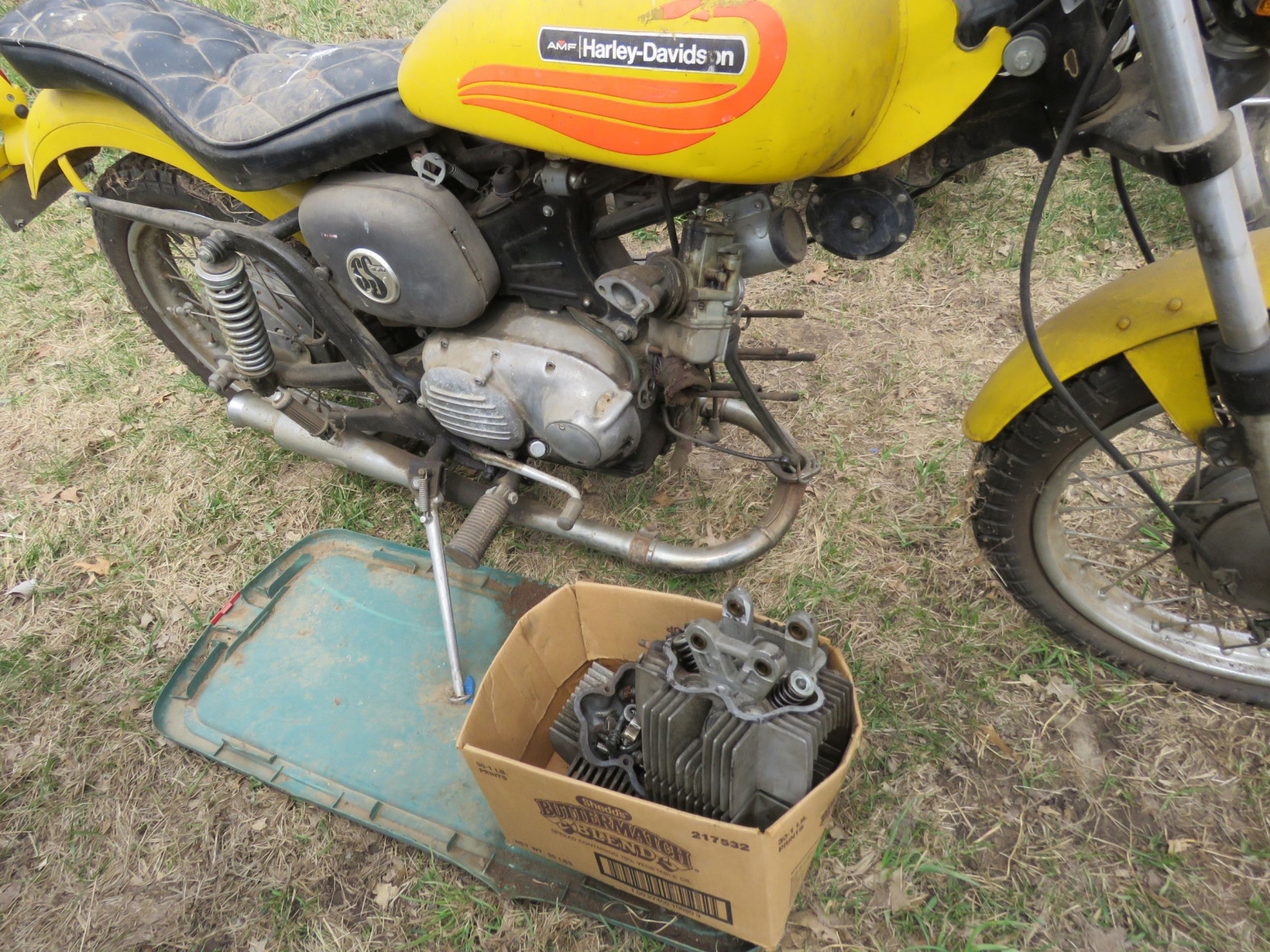 1971 Harley Davidson-AMF H2 Sprint GS350 Motorcycle for Project - Image 3