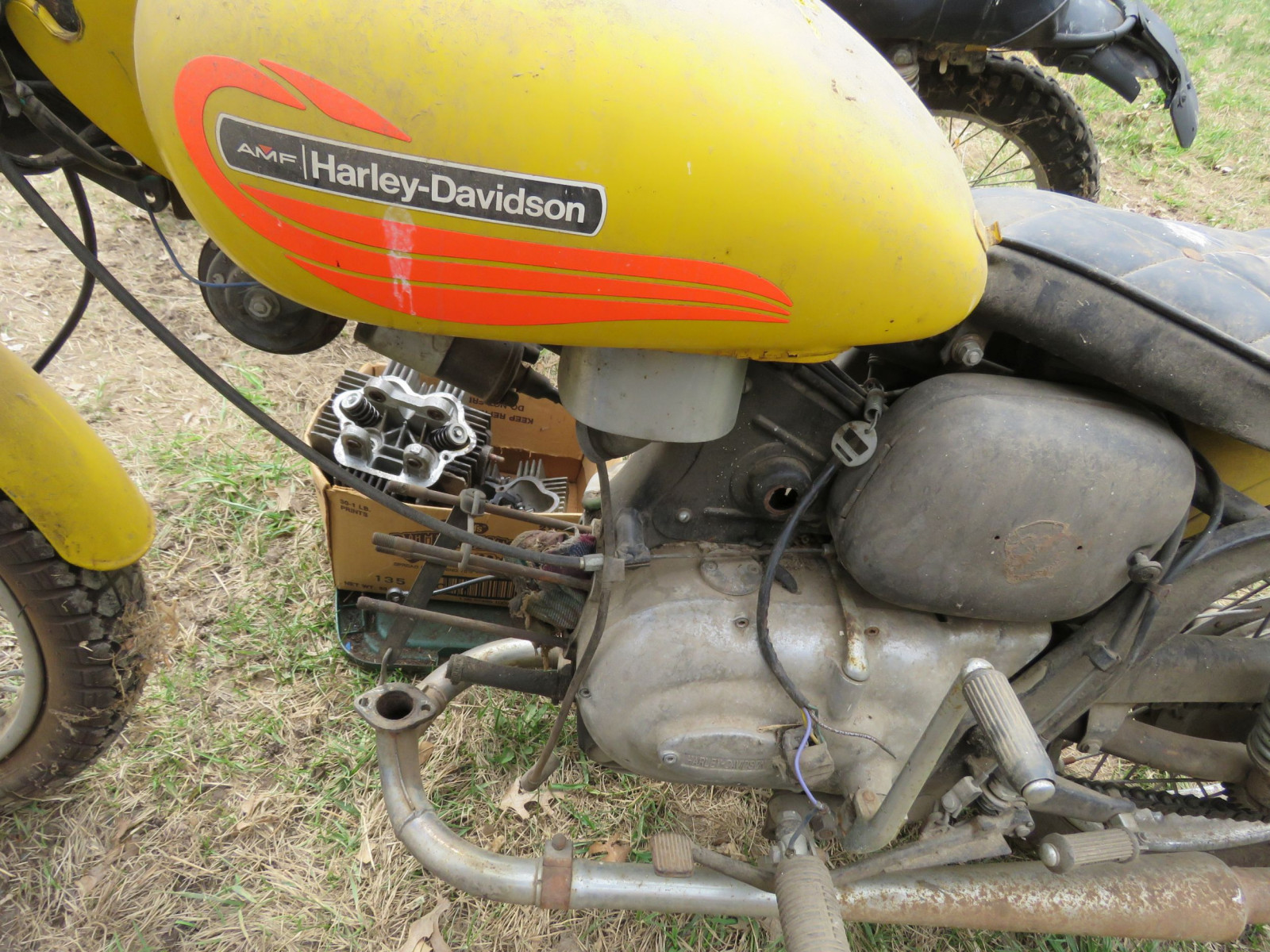1971 Harley Davidson-AMF H2 Sprint GS350 Motorcycle for Project - Image 4