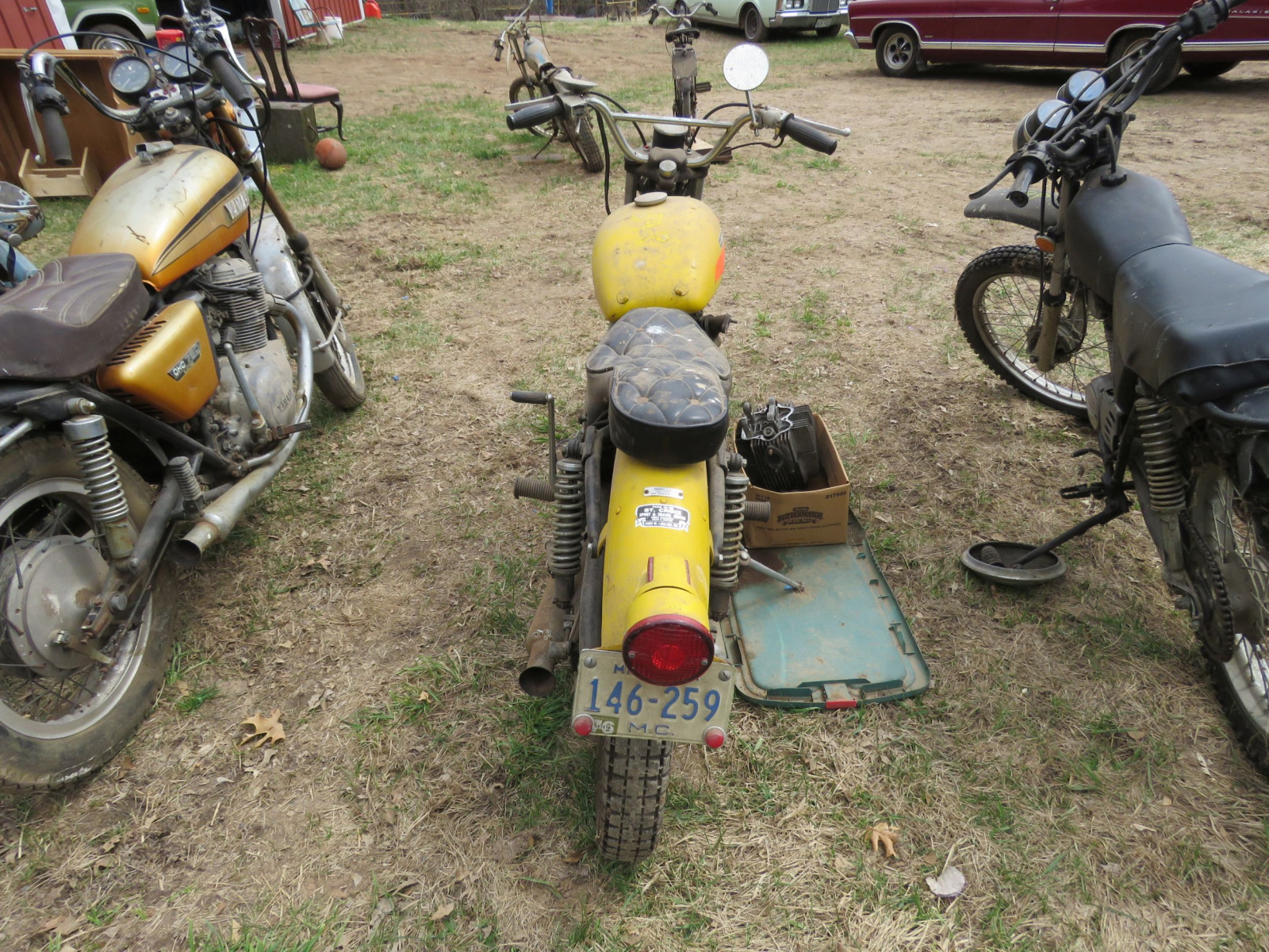 1971 Harley Davidson-AMF H2 Sprint GS350 Motorcycle for Project - Image 5