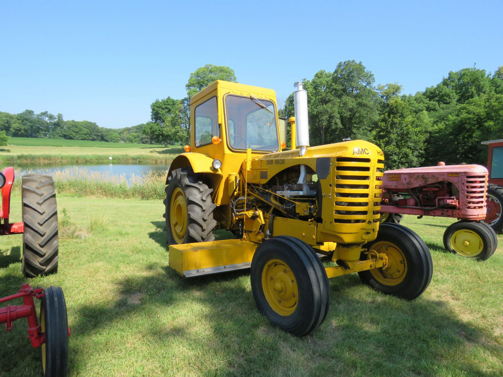 1956 Massey Harris 333 Tractor with Sabre Magnetic Sweeper - Image 1