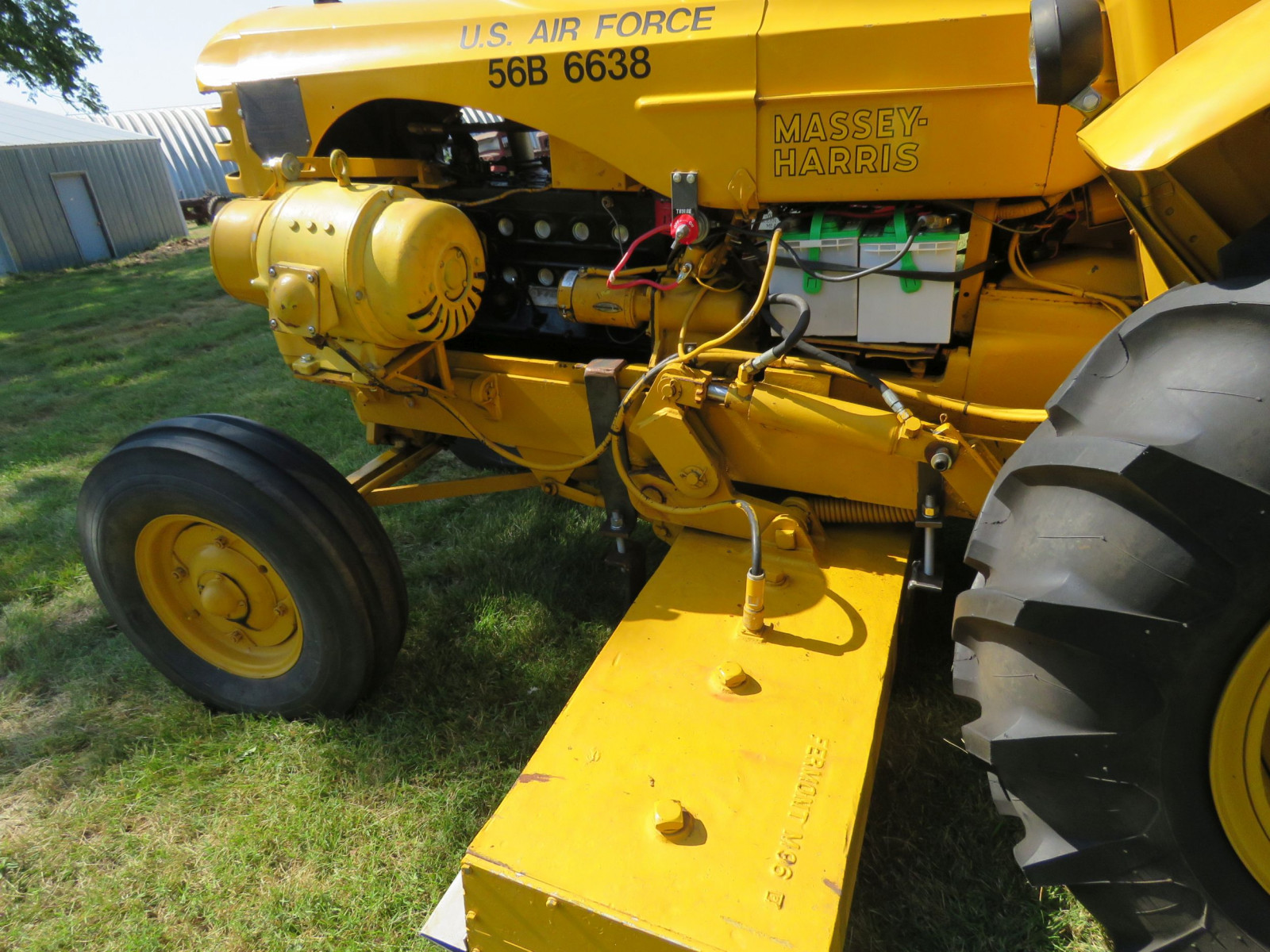 1956 Massey Harris 333 Tractor with Sabre Magnetic Sweeper - Image 12