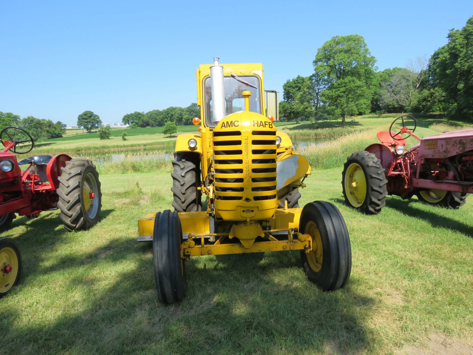 1956 Massey Harris 333 Tractor with Sabre Magnetic Sweeper - Image 2