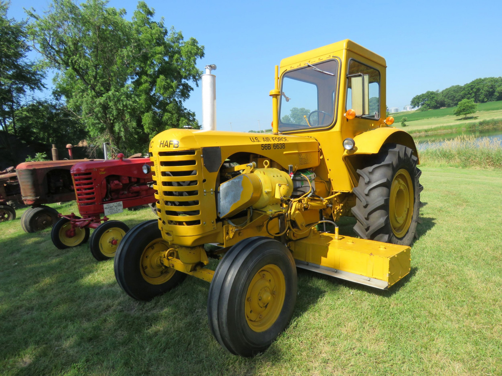 1956 Massey Harris 333 Tractor with Sabre Magnetic Sweeper - Image 3