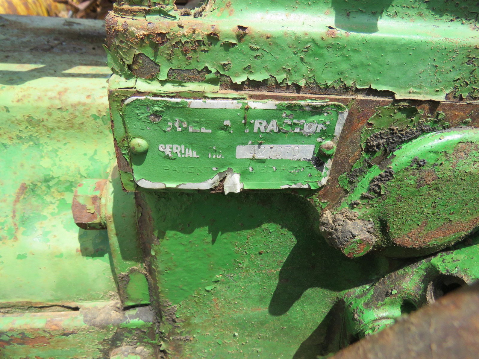 1936 John Deere Unstyled A Tractor - Image 6