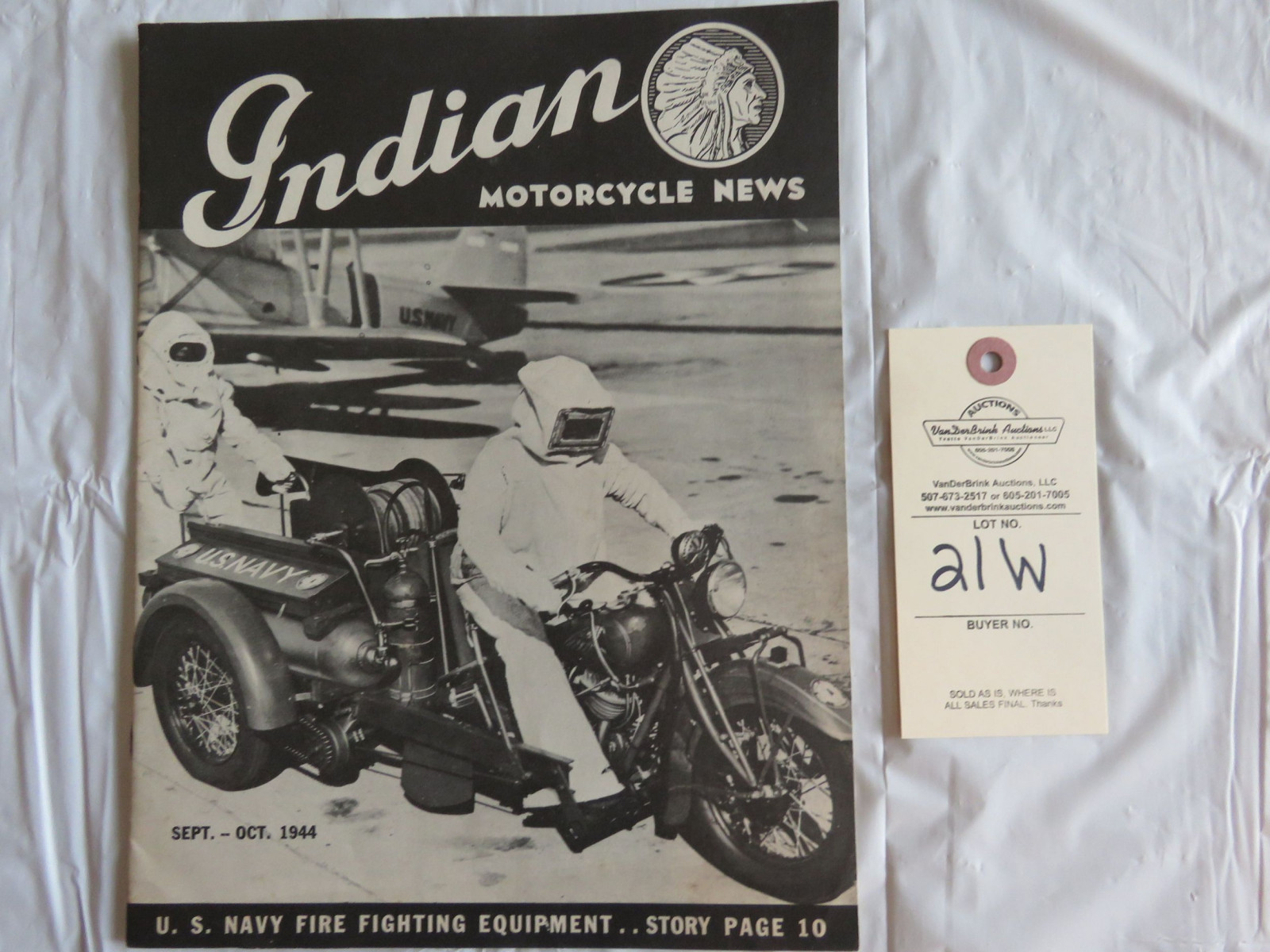 Sept.- Oct. 1944 Indian Motorcycle News - Image 1