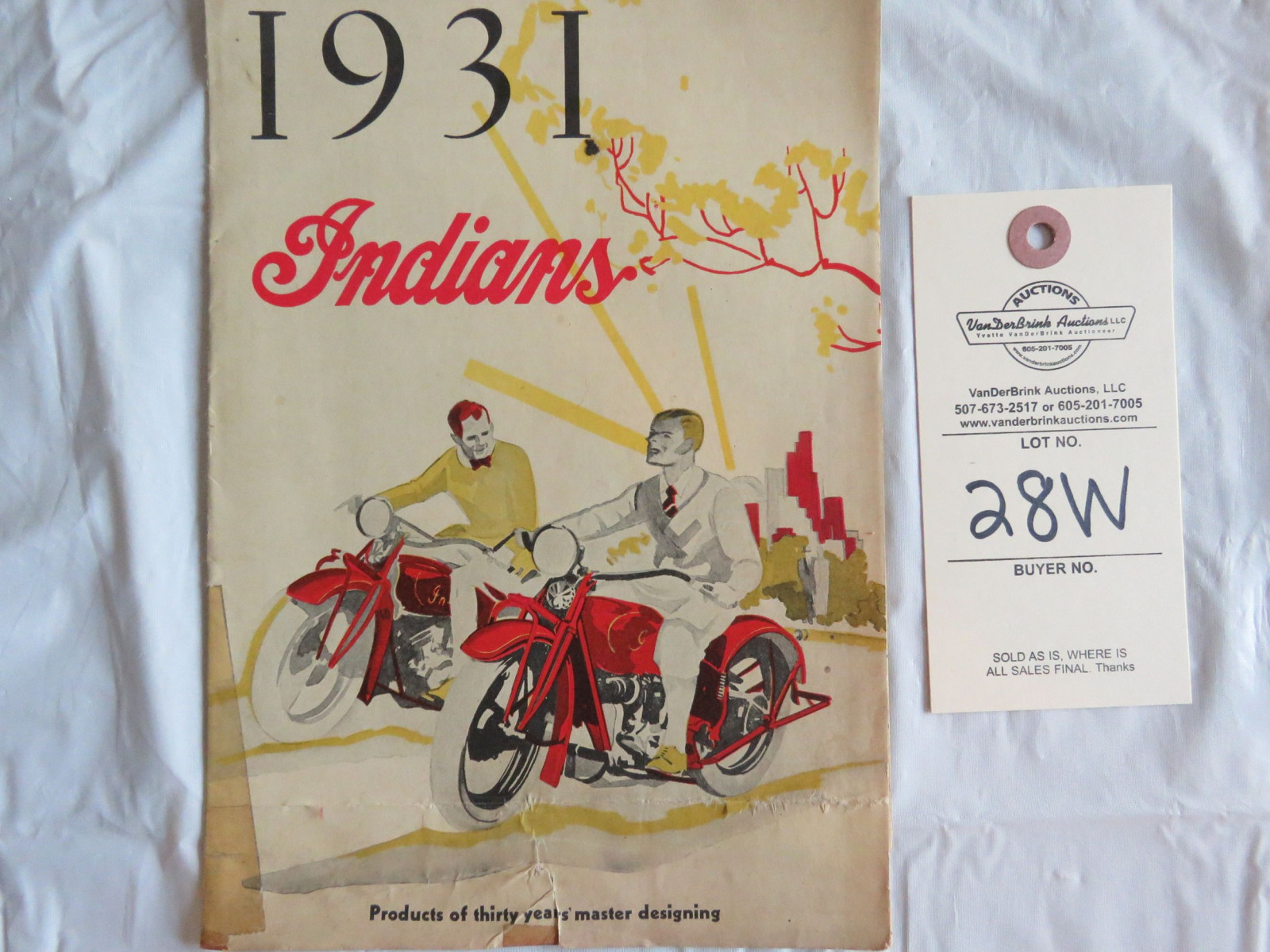 1931 Indian Motorcycles Brochure - Image 1