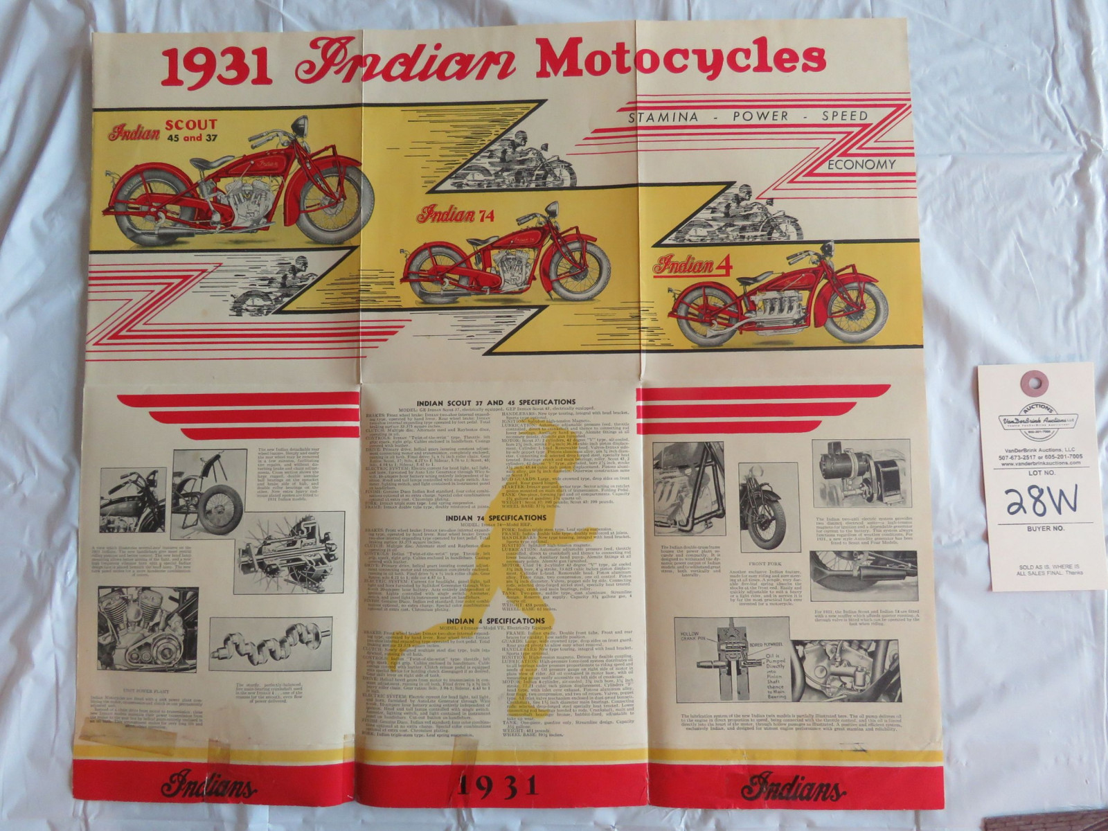 1931 Indian Motorcycles Brochure - Image 2